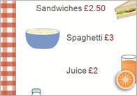 Editable Cafe Price List / Menu