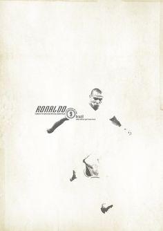 Ronaldo - soccer, football poster - by Zoran Lucić God Of Football, Football Design, World Football, Vintage Football, Football Soccer, Soccer Pro, Soccer Fans, Football Players, Soccer Shirts