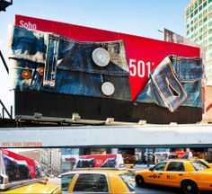 Founded back in the mid 1800s, #Levi Strauss and Co has since become known worldwide for its Levi brand of denim #jeans. With such a recongiseable brand and product, a simple but clever design was all that was needed for this #billboard. Here, Levis lets its jeans do the talking, featuring a section of a giant pair of 501s, unbuttoned to reveal not only the the infamous numbers, but realistic detailing in the denim, stitching, buttons and rivets.