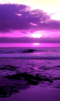 A striking purple sky.  #colorinspiration