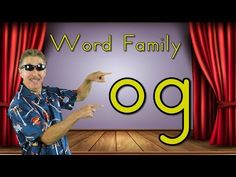 Learn about the og word family. Word families are groups of words that have a common pattern. Word families, sometimes called phonograms or chunks, can help . Word Family Activities, Cvc Word Families, Family Songs, Kids Songs, Math Songs, Preschool Songs, Phonics Videos, Phonics Song, Phonics Words