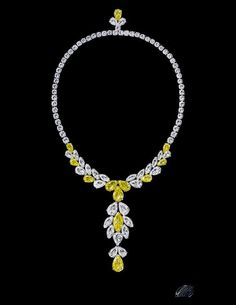 Canary diamond necklace - see how a touch of yellow makes all the difference!