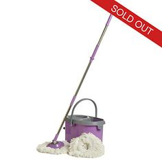 Deluxe Spin Mop w/ Two Mop Heads & Dual Spinning Bucket