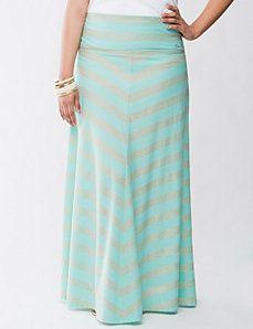 Miter stripe maxi skirt by Seven7
