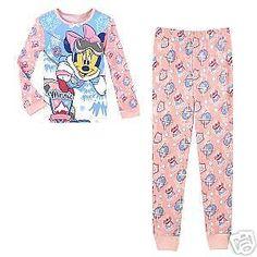 NWT DISNEY Toddler Girls Disney Mickey Mouse Alpine Minnie Mouse PJ's   Size 2 #Disney #TwoPiece #Sleepwear