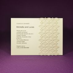 Paris Wrap Invite A7 - Thermography Printed