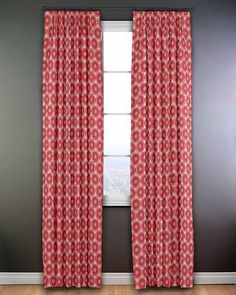 Happy red curtains