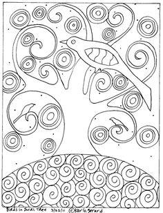 Karla Gerard Patterns :: Bird in Swirl Tree image by mooseriver - Photobucket