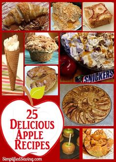 If you like apples, you'll LOVE these 25 Delicious Apple Recipes!