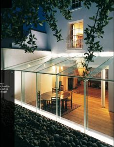 Rick Mather :: project :: all glass extension Extension Designs, Glass Extension, Roof Extension, Conservatory Extension, Glass Conservatory, Ideas Terraza, Glass Room, Glass Boxes, House Extensions