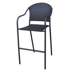 Garden Treasures One Pelham Bay Woven Steel Patio Bar-Height Chair