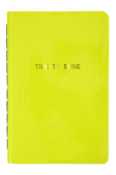 An eye-catching neon notebook with a vinyl cover embellished with gold        foil.                 Made by Meri Meri.                 Pack contains 1 notebook.                 Number of pages: 40.                 Notebook size: 4 x 6 inches.