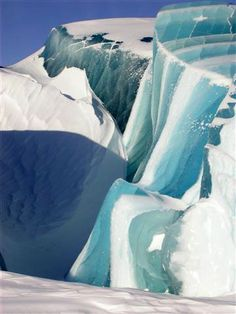 ice forms created by glacial movement in the arctic