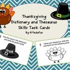 These dictionary and thesaurus skills task cards have a Thanksgiving theme, and can be used whole class, individually, paired or as a center activi...
