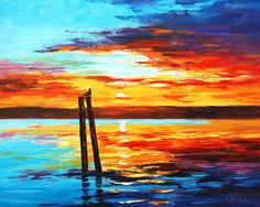 Swansea Sunset by artsaus.deviantart.com on @DeviantArt