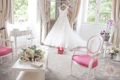 Created by Happilys Events Wedding Planner France  Rosa Clara Wedding Dress Castle bridal room