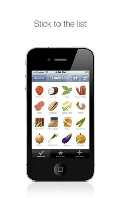 Create a grocery list without typing. NeedFood (The Visual Grocery List) iPhone App