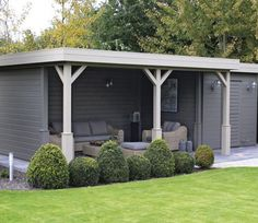 The Lugarde Prima Jake Summerhouse offers a tranquil environment in which to relax, while also offering a spacious covered seating area for wining and dining, barbecuing and enjoying the summer weather. Outside Seating Area, Outdoor Seating Areas, Outdoor Rooms, Seating Area In Garden, Outside Room, Summer Houses Uk, Summer House Garden, Bbq Area Garden, Garden Sitting Areas