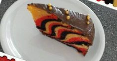 Germany - Zebra cake for the World Cup - backen - Kuchen Soccer Birthday Parties, Family Meals, Buffet, Cake Decorating, Martini, Bacon, Food And Drink, Snacks, Desserts