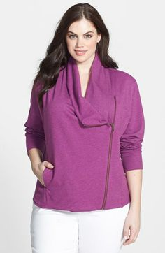 Caslon® Draped Neck Jacket available at #Nordstrom