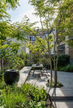 - Relaxing Terrace Garden Design I Terrace Garden Design, Modern Garden Design, Garden Landscape Design, Modern Japanese Garden, Modern Landscaping, Backyard Landscaping, Small Gardens, Outdoor Gardens, Modern Gardens