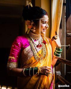 Indian Wedding Poses, Indian Wedding Photography Poses, Indian Wedding Planning, Wedding Couple Poses, Indian Wedding Outfits, Bridal Outfits, Indian Outfits, Marathi Bride, Marathi Wedding