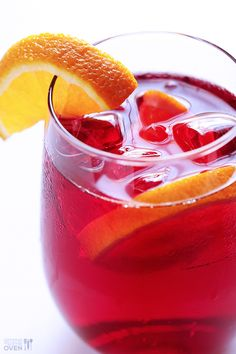 Have you tried making Agua de Jamaica (Hibiscus Tea) before?  It's super easy to make homemade, and is a delicious and refreshing drink for summer.    gimmesomeoven.com #drinks