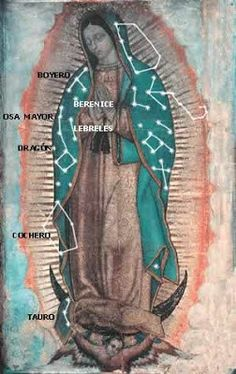 Constellations of Our Lady of Guadalupe Blessed Mother Mary, Blessed Virgin Mary, Catholic Saints, Roman Catholic, Catholic Art, Madona, Angel Guide, Mama Mary, Holy Mary