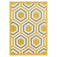 Indoor/outdoor rug with a honeycomb motif.   Product: RugConstruction Material: PolypropyleneColor: C...