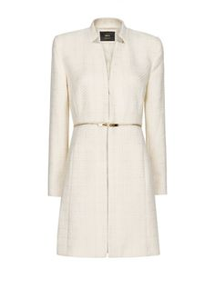 Zipper bouclé coat