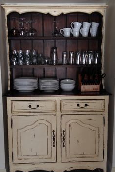 Beautiful Hutch In Antique Cream And Aged Honey From Platypus PR