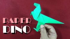 How To Make An Origami Dinosaur | Easy And Simple steps | - YouTube