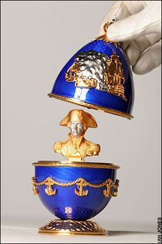 The Faberge 'Cuckoo' egg, given by Tsar Nicholas II to his mother in 1900