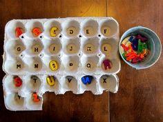 This is a great way to work on letter recognition!! Can't wait to try this out.- M.S.