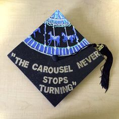 """Shonda Rhimes Grey's Anatomy inspired graduation cap decorations with famous quotes like: """"It's a beautiful day to save lives. Funny Graduation Caps, Graduation Cap Designs, Graduation Cap Decoration, Nursing Graduation, High School Graduation, Graduation Photos, Graduate School, Graduation Ideas, Graduation Outfits"""