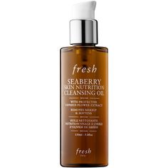 Fresh Seaberry Skin Nutrition Cleansing Oil ($42) ❤ liked on Polyvore featuring beauty products, skincare, face care, face cleansers, moisturizing face wash and paraben free face wash