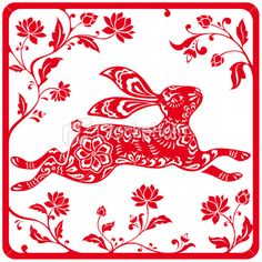 chinese zodiac rabbit   istockphoto_14864107-chinese-year-of-the-rabbit-2011-red