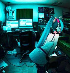 miku vocaloid hatsune varios informacion personajes aesthetic anime editar gaming chair electric chan perfil kawaii aprende