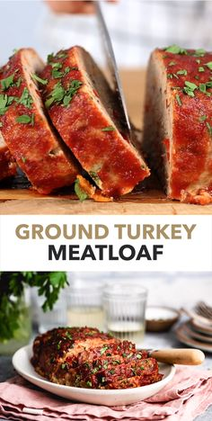 Ground Turkey Meatloaf Recipe This easy Turkey Meatloaf recipe features lean ground turkey and an abundance of good-for-you vegetables such as onions, peppers, and carrots. Best Ground Turkey Meatloaf Recipe, Moist Turkey Meatloaf, Healthy Ground Turkey, Good Meatloaf Recipe, Meat Loaf Recipe Easy, Best Meatloaf, Meatloaf Recipes, Healthy Meatloaf, Quick Ground Turkey Recipes