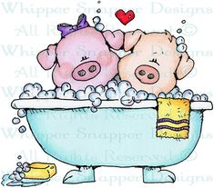 Hog Wash - Farm - Animals - Rubber Stamps - Shop