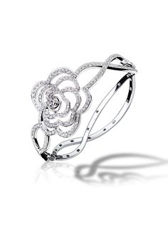 Chanel Fine Jewelry: Camelia Bracelet in 18K White Gold and Diamonds- Gorgeous!