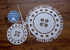 Mums are like buttons papercut by MadebyNicky on Etsy