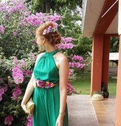 invitada perfecta invitadas perfectas cinturón de flores Miss Daisy peineta a juego mono verde cómo combinar outfit wedding