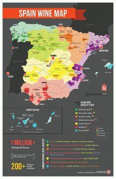 Wine Map Of Spain - Márques de Cáceres