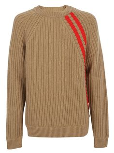 Shop Jil Sander Sweater and save up to EXPRESS international shipping! Beige Sweater, Sweater Cardigan, Men Sweater, Women Lifestyle, How To Purl Knit, Winter Kids, Ribbed Fabric, Striped Knit, Red Stripes