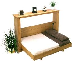 Full Size Murphy Bed - Rockler's Folding Murphy Bed Plan for Full and Queen Side Mount . Full Size Murphy Bed, Build A Murphy Bed, Murphy Bed Ikea, Murphy Bed Plans, Murphy Bunk Beds, Fold Down Beds, Modern Murphy Beds, Folding Beds, Decorate Your Room