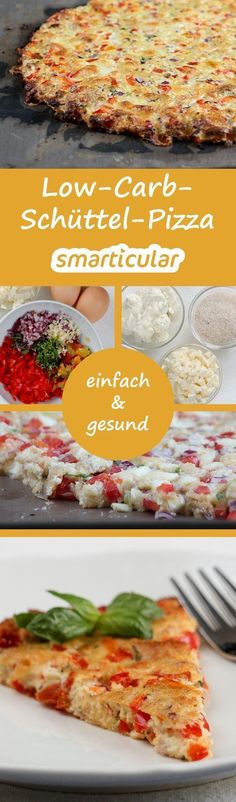 Schüttelpizza - so schnell hast du noch nie gesunde Pizza gemacht! Pizza doesn't have to have a lot of carbohydrates. This vegetarian pizza alternative can be prepared in just 10 minutes and does not require any white flour. carb recipes for dinner Vegetarian Pizza, Healthy Pizza, Low Carb Pizza, Healthy Snacks, Vegetarian Recipes, Pizza Vegetariana, Law Carb, Low Carb Recipes, Healthy Recipes