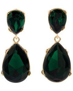Jolie Drop Earrings by Kenneth Jay Lane $35.90 #Earrings #Green_Earrings #Kenneth_Jay_Lane