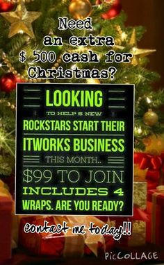 Need Extra cash for Christmas? Contact me today! Call or text 520-840-8770 http://bodycontouringwrapsonline.com/make-money-become-a-distributor