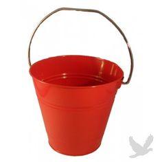 "Metal Favor Bucket (Sand Pail Favor Bucket) 5.5"" H x 6"" W - RED (Set of 36 = $1.94 per Bucket)"